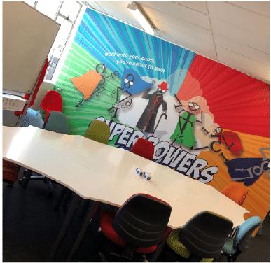 Five-Piece Superhero Boardroom Table