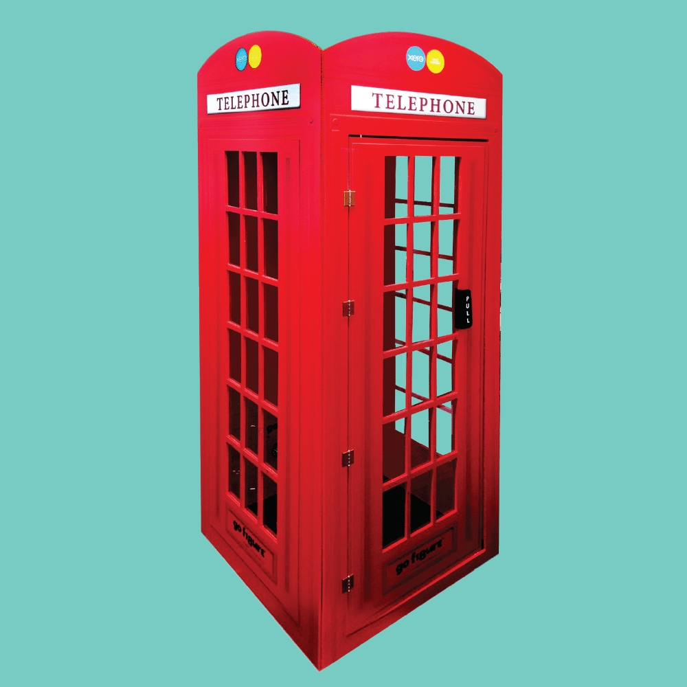 Life-Sized Flat Pack Superhero Telephone Booth