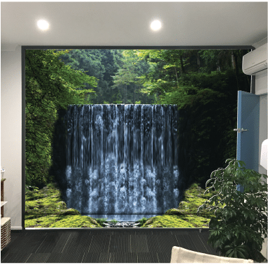 Back-Lit Waterfall Feature Wall